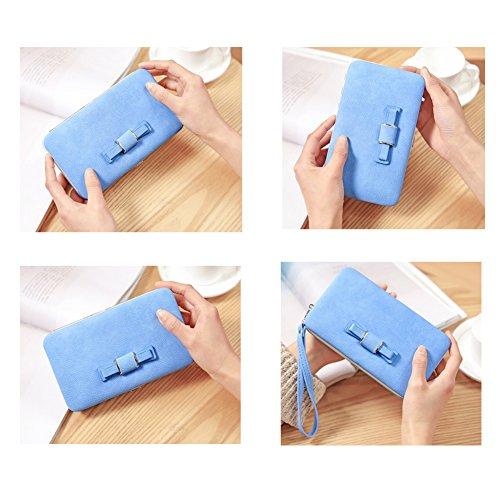 Bolso Oscuro Monedero Damas Samsung Iphone Azul Aeeque Mujer Para Niñas 6s J3 Elegante 6 De P9 Lite Huawei A3 Galaxy Mano 7 Plus P8 5s Y Se Gran A5 Capacidad Verde 5 EqvARdv