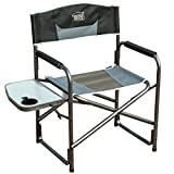 Aluminum Folding Lawn Chairs Timber Ridge Director's Chair Folding Breathable Mesh Material Aluminum Camping Portable Lightweight Supports 300lbs, Side Table