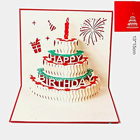 Amazon.com: 3d Pop Up Happy mejores deseos Magic tarjetas de ...