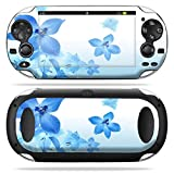 Mightyskins Protective Vinyl Skin Decal Cover for PS Vita PSVITA Playstation Vita Portable wrap sticker skins Blue Flowers