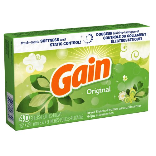 Gain Dryer Sheets with Freshlock, Original Scent,  40 Count (Pack of 3)