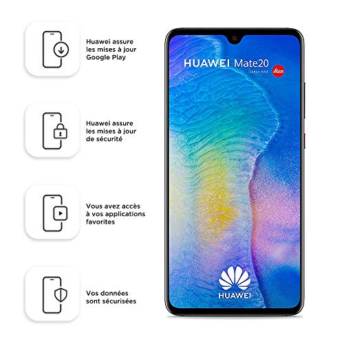 Huawei Mate 20 HMA-L29 Dual-SIM 128GB (4GB RAM, 6.53' inch, Android) (GSM Only, No CDMA) Factory Unlocked 4G/LTE Smartphone (Black) - International Version