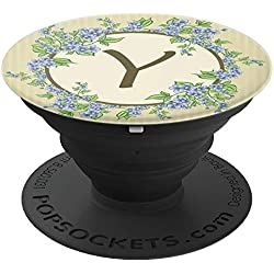 Floral Monogram Letter Y - Cute Monogrammed Gift For Women - PopSockets Grip and Stand for Phones and Tablets