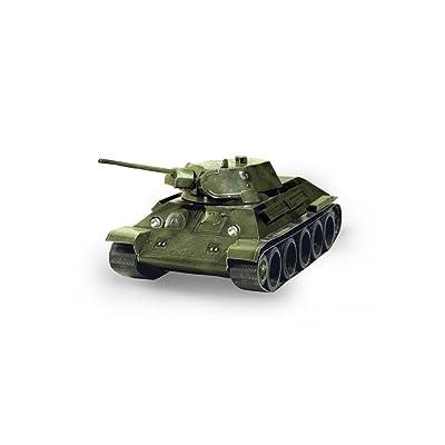 CLEVER PAPER- Tank T-34 Puzle 3D, Keranova_199-02: Juguetes y juegos
