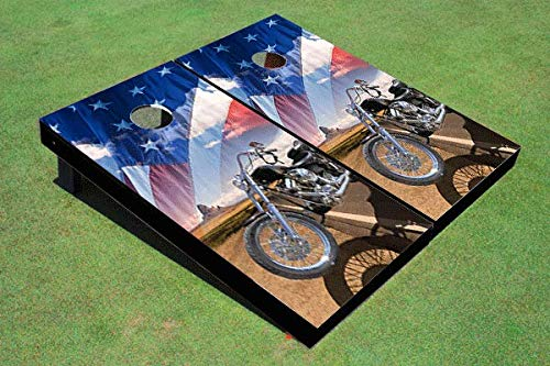 Aromzen Motorcycle Desert and American Flag Board Set by Aromzen (Image #1)