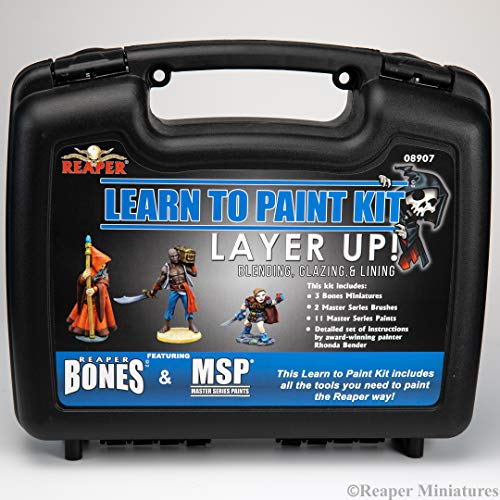 - Reaper: 08907 - Learn to Paint: Layer Up! Bones Paint Set