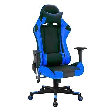 Silla de escritorio, reclinable ejecutivo Silla de oficina giratoria de cuero de poliuretano Función de inclinación y bloqueo de sillón reclinable ...