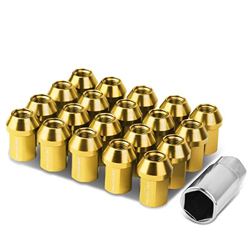 M12 x 1.25 Close End Design 20-Piece Aluminum Alloy Wheel Lug Nuts + Deep Drive Extension ()