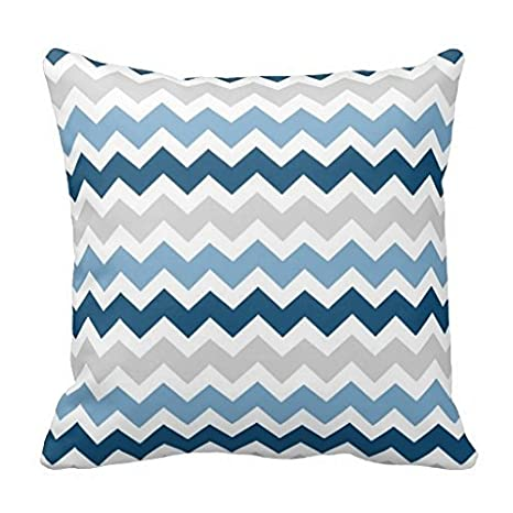 violetpos funda de cojín decorativo azul, gris, sofá ...