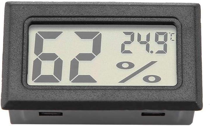 Negro Garosa Medidor De Temperatura R/ápido con Monitor Incorporado De Humedad Preciso y Term/ómetro De Higr/ómetro Digital Integrado con Sonda Incorporada