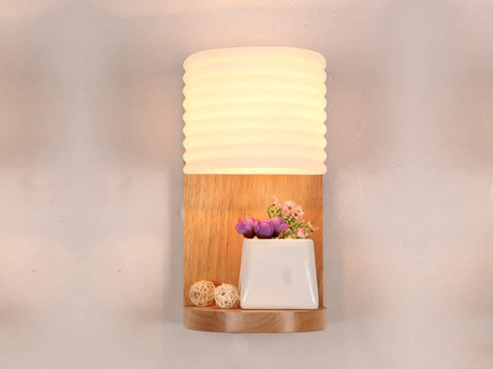 Holz- lampen kreative Holz- Schlafzimmer Nachttischlampe einfache Eingang gang Lichter Massivholz Wandleuchte