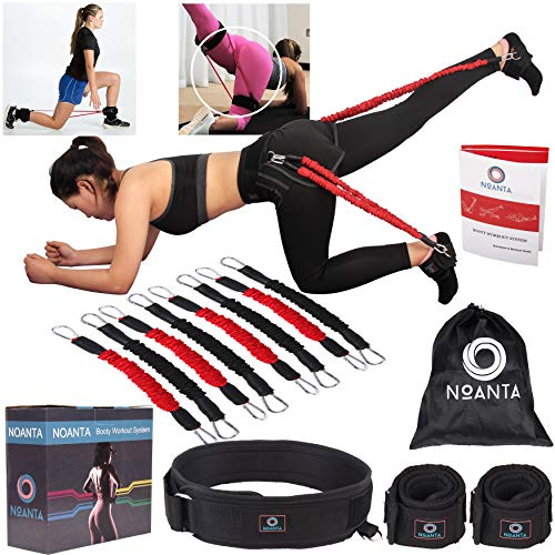 Booty Resistance Belt Bands, Resistance Bands for Legs and Butt, Leg Ankle Resistance Bands, Speed and Agility Training Equipment, Kinetic Bands Workout, Vertical Jump Trainer, Strength Training Set (The Best Vertical Jump Program)