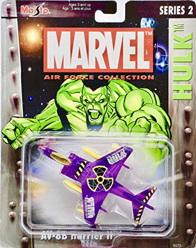 2003 - Marvel Air Force Collection - Series 2 - Hulk AV-8B Harrier II Die Cast Jet - By Maisto - Collectible - Rare