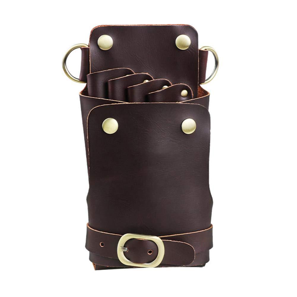 Bulary Scissor Pouch Holster con cinturino per parrucchieri professionali tasche per utensili da parrucchiere vera pelle per capelli stilista forbici borsa vita titolare caso borsa