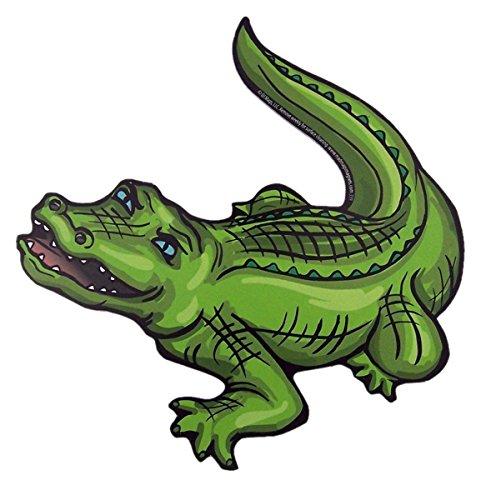 Alligator Magnet - Mad Mags Green Gator Alligator Magnet Decal for Car, Refrigerator, or Office, 6 1/8 Inch