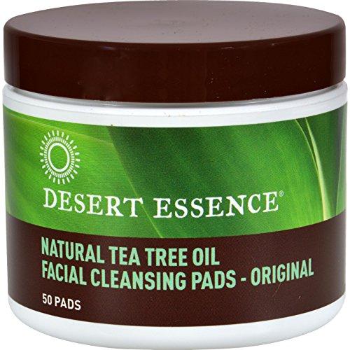 - Desert Essence Natural Tea Tree Oil Facial Cleansing Pads - Original -- 50 Pads (Pack of 2)