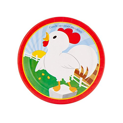 Farm Animal Party Supplies - Dessert Plates (8) -