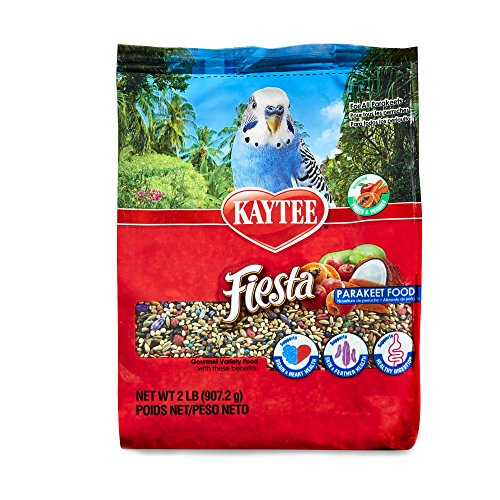 - Kaytee Fiesta Max Bird Food For Parakeets, 2-Pound