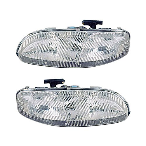 Pair New Left Right Headlight Assembly For Chevy Lumina & Monte Carlo - BuyAutoParts 16-80352A9 ()