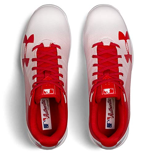 Under Armour Boys' Leadoff Low Jr. RM Baseball Shoe Red (611)/White 1 by Under Armour (Image #5)