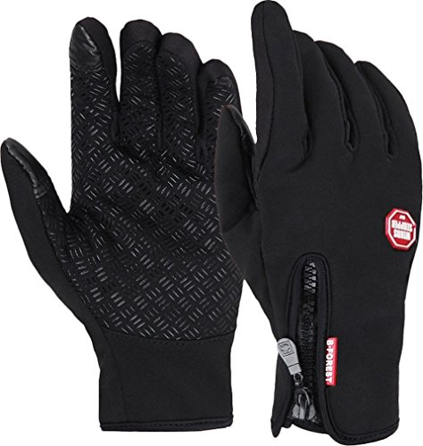 (Byoung Winter Outdoor Cycling Touchscreen Gloves Glove for Smart Phone Black L)