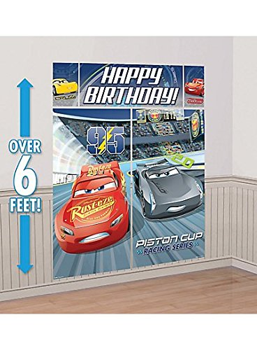 Cars 3 Scene Setters Wall Decorating Kit 6ft