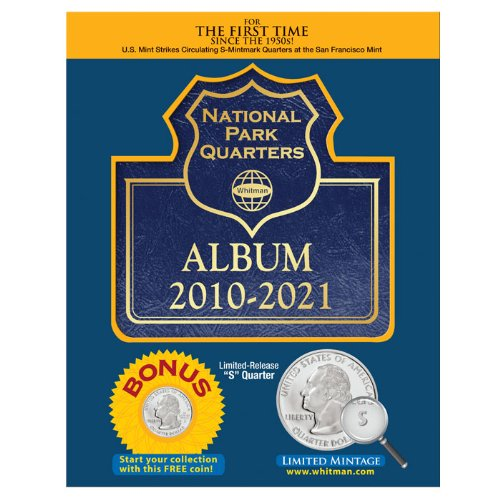 National Park Quarters Album 2010-2021 (Whitman State Quarter Album)