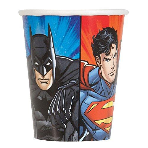 Unique 9oz Justice League Party Cups, 8ct