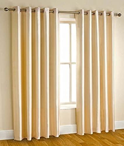 Home Cloud Blended Long Door Curtains 8 Feet 48 Inch X 96 Cream