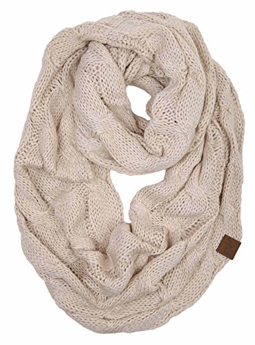 S1-6100-60 Funky Junque Infinity Scarf - Beige