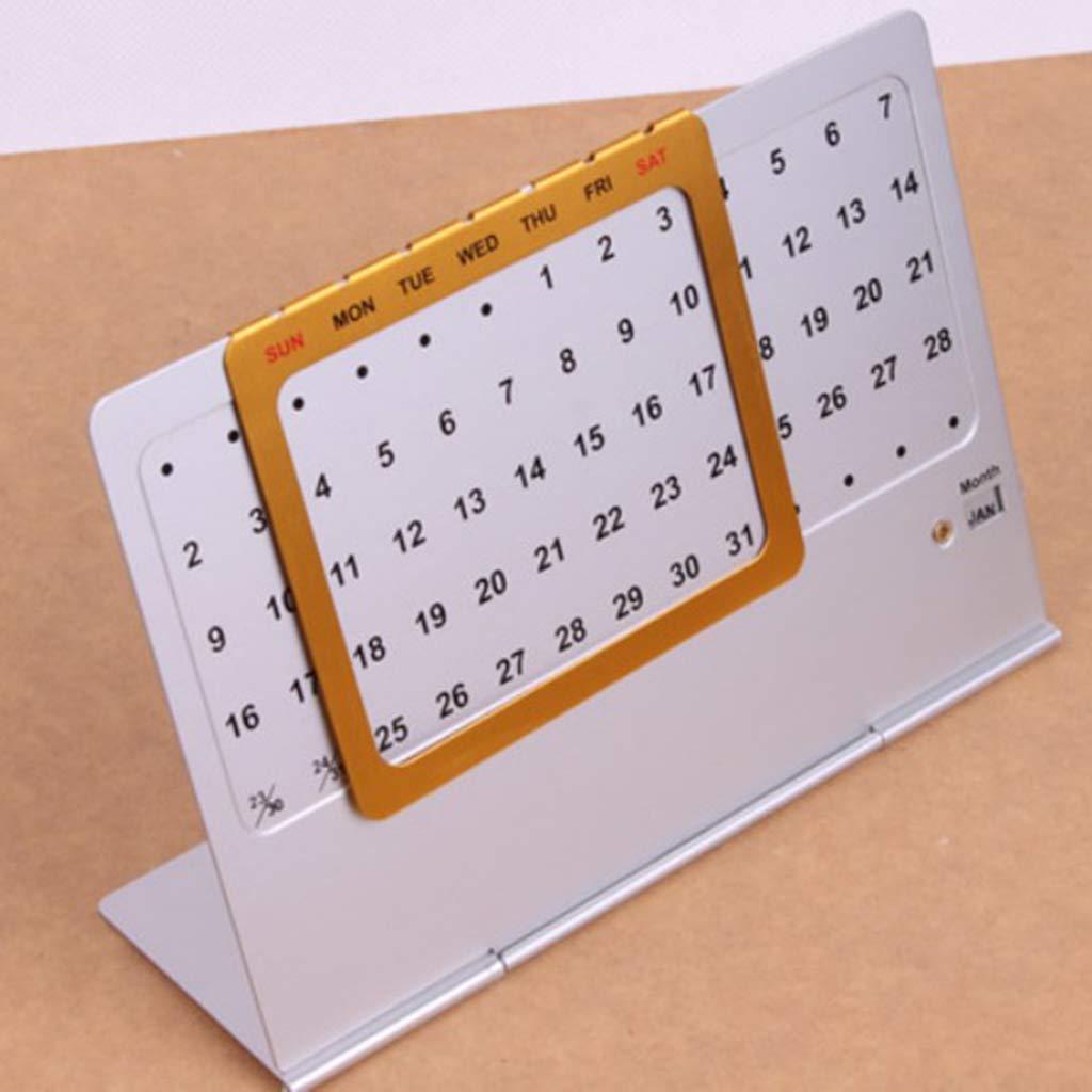Calendario Perpetuo de Aluminio Reutilizable Piezas de Automóvil ...