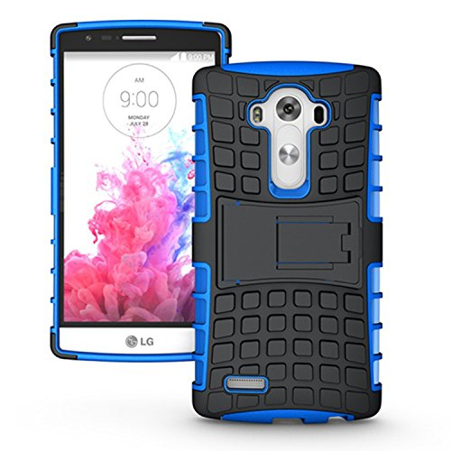 LG G4 Case,K-Xiang (Armor Series) Kickstand Heavy Duty Protection Hybrid Shockproof Dual Layer Protective Case Cover With Stand for LG G4 (Blue)
