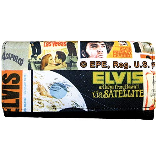 Elvis Presley The King Movie Poster Collage Wallet - 7.5 Inch w/Snap Closure]()