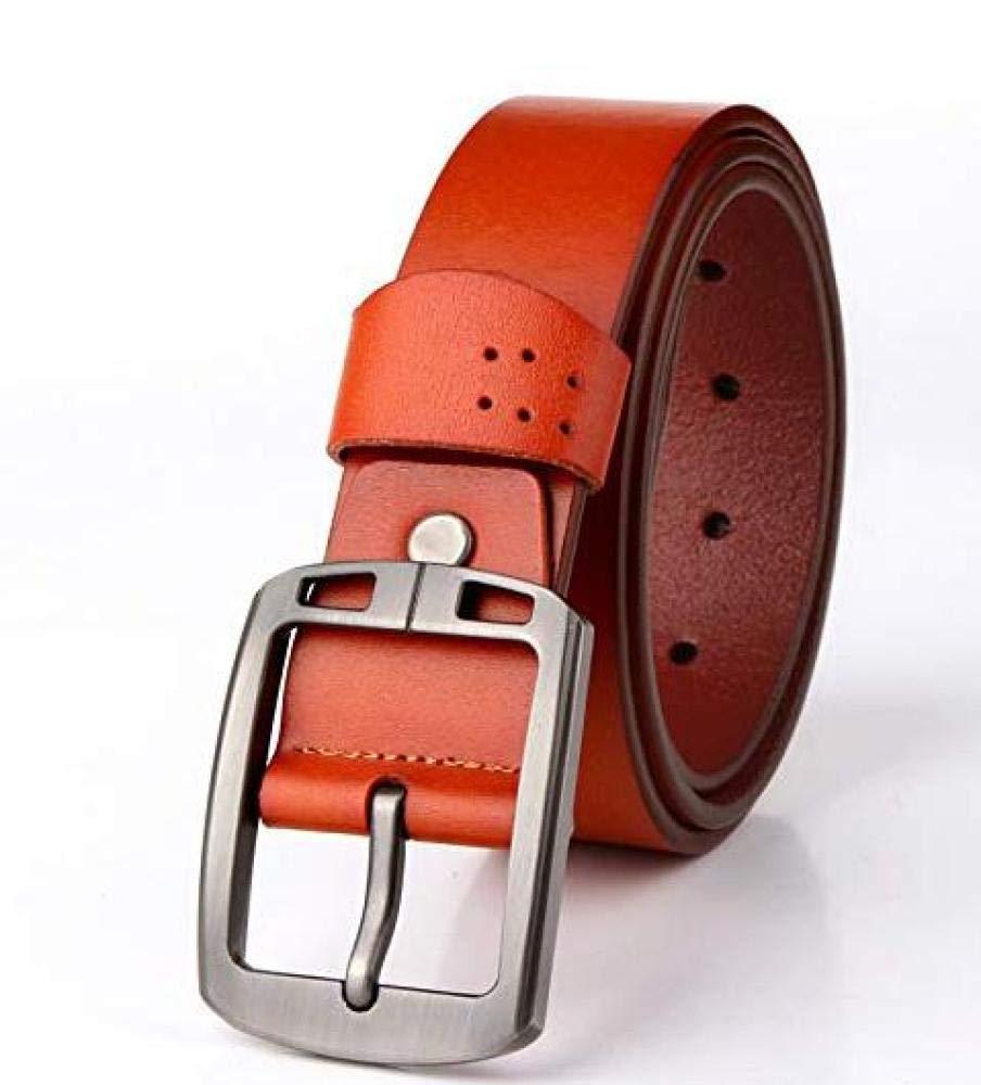 CTO Herren Ledergürtel Mode Freizeit Pure Cowskin Belt,B,120Cm