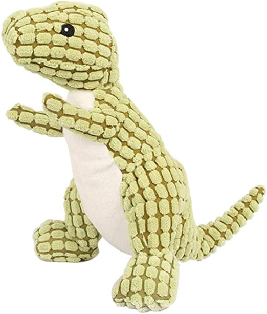 Dinosauro Resistente Indestructible Divertente Squeak per Cani,Arancio Everpertuk Peluche per Cani