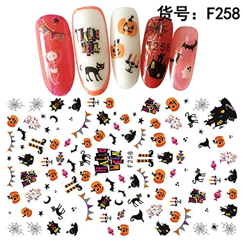 Xemesis-Store - HoT SALE Nail art & decals - sheet Halloween nail decals Nails Art decorations acrylic nail accessories beauty manicure tools F251-F260 - by Xemesis-Store - 1 PCs ()