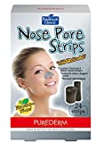 Facial Steamer Oil Cleansing Method - Purederm Nose Pore Strips: Premium 24 Pack Charcoal Pore Strips To Remove Blackheads, Dirt and Oil/ Easy To Use, Deep Cleansing Face Pore Strips For Clean, Fresh, Radiant, Youthful Skin