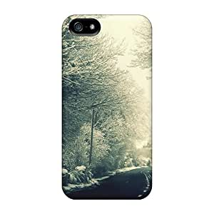 Quality ConnieJCole Case Cover With Landscape Winter Road Nice Appearance Compatible With Iphone 5/5s