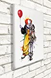 Original Art Inspired by IT - PENNYWISE - Wall Canvas Print