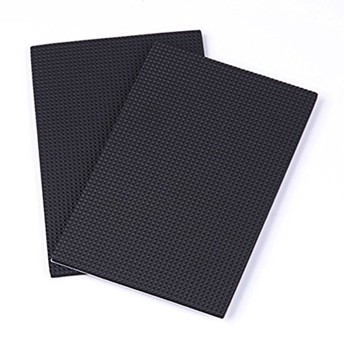 Elandy 3 Set Black Multi-Functional Thickening Silicone Non-Slip Table Mats Adhesive Furniture Floor Noise Dampening Bumper Buffer Pads Protection Rubber Pads Floor Protection Mats (2pcs Rectangle)