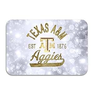 PTGIK Texas A&M University Texas A&M TAMU Aggies Logo Non-slip Doormat White