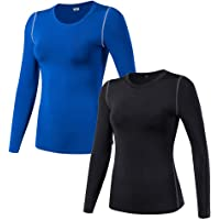 WANAYOU Women s Compression Shirt Dry Fit Long Sleeve Running Athletic T- Shirt Workout Tops 34c804e8e