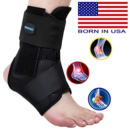 SNEINO Ankle Brace,Lace Up Ankle Brace for Women,Ankle Brace for Sprained Ankle,Ankle Supports for Women,Kids,Ankle Braces for Basketball,Volleyball Ankle Braces,Ankle Stabilizer for Women(Small)
