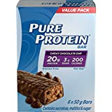 Pure Protein Chewy Chocolate Chip Value Pack, 6-Count