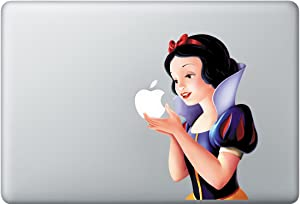 Full-color Snow White Holding Apple MacBook Pro Decal Ships Same Day! Skin Sticker