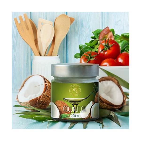 Olio di Cocco Pressato a Freddo 220ml - Indonesia - Extra Vergine - 100% Puro e Naturale - Miglior per ad Uso Alimentare 4 spesavip