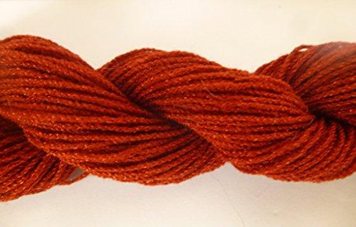 Rust Reddish Brown Acrylic Blend Stretch Knit Fingering Novelty (Stretch Linen Blend)