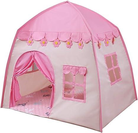 Kibten Dibujos animados Rosa Niñas Princesa Castillo Tienda de campaña Casa de muñecas Tela de Oxford