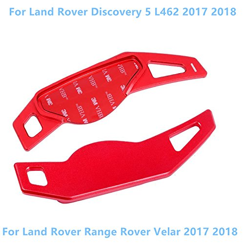 Range Rover Velar 2017-2019 Car Accessory HIGH FLYING Red Aluminum Alloy Steering Wheel DSG Paddle Shift Gear Extensions 2pcs For Discovery 5 L462 2017-2019