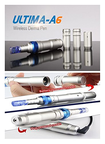 Dr. Pen Ultima A6 Rechargeable Therapy Professional System & Dr Pen A6 Accessories - for Scars, Acne, Wrinkles, Spot Removal, Hydrating, Whitening (2 Batteries+10PCS Cartridges) by Dr. Pen (Image #9)